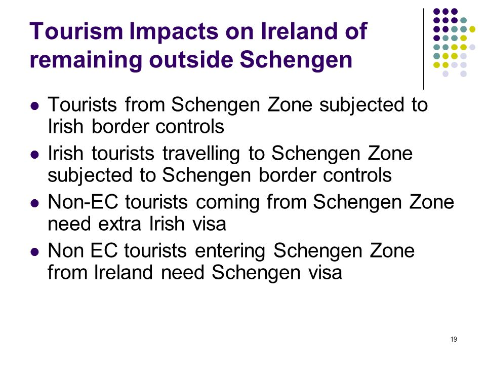Tourism Impacts on Ireland of remaining outside Schengen