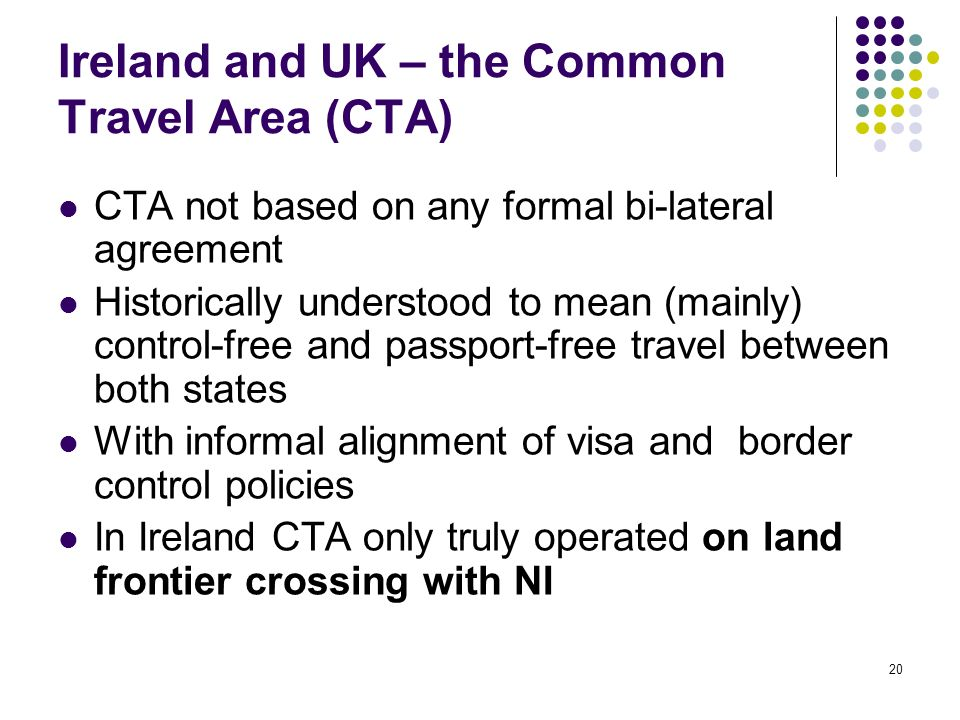 Ireland and UK – the Common Travel Area (CTA)