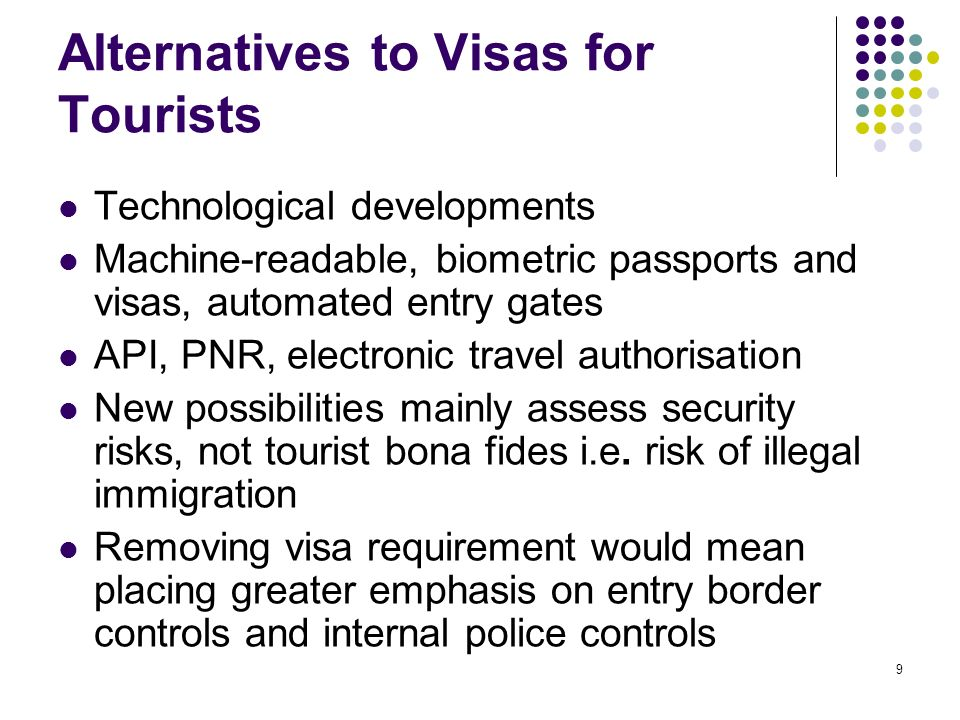 Alternatives to Visas for Tourists