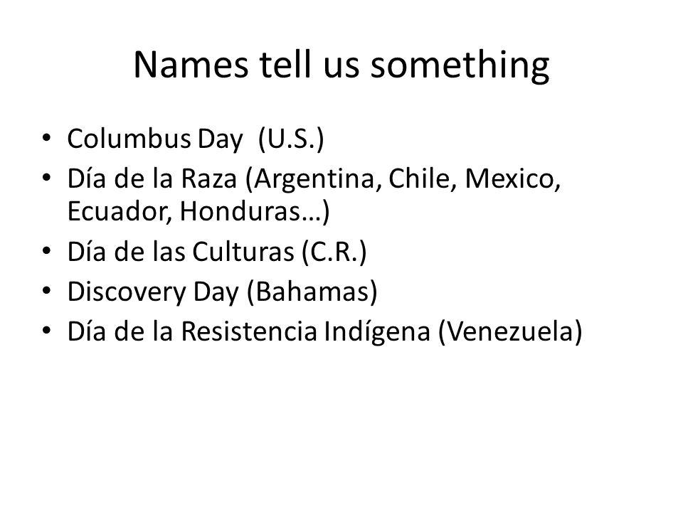 Names tell us something