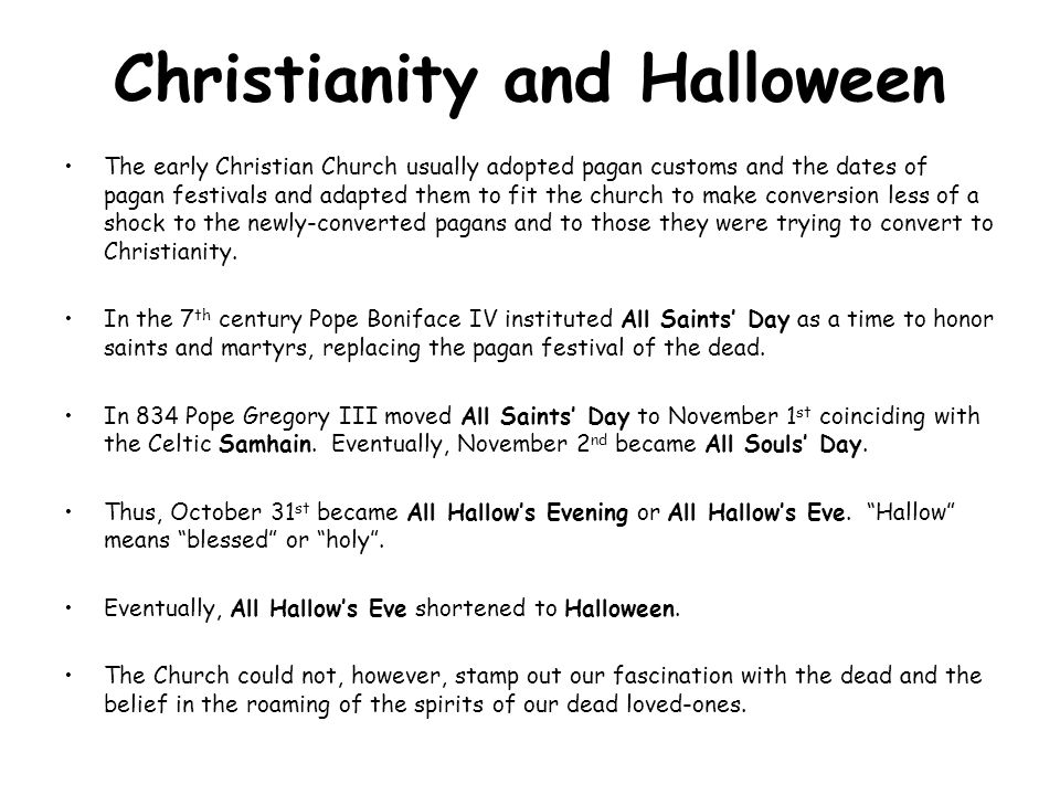 Christianity and Halloween