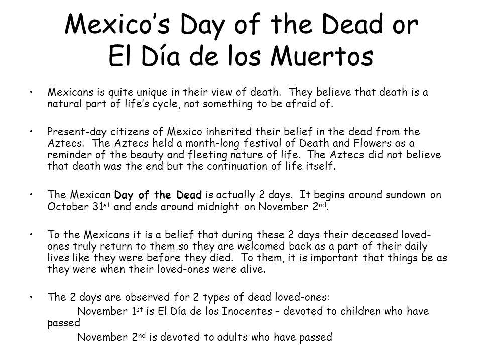 Mexico's Day of the Dead or El Día de los Muertos