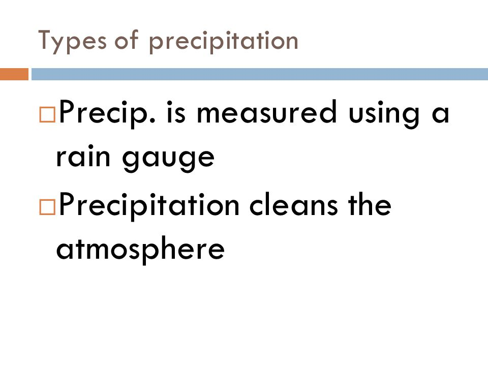 Types of precipitation
