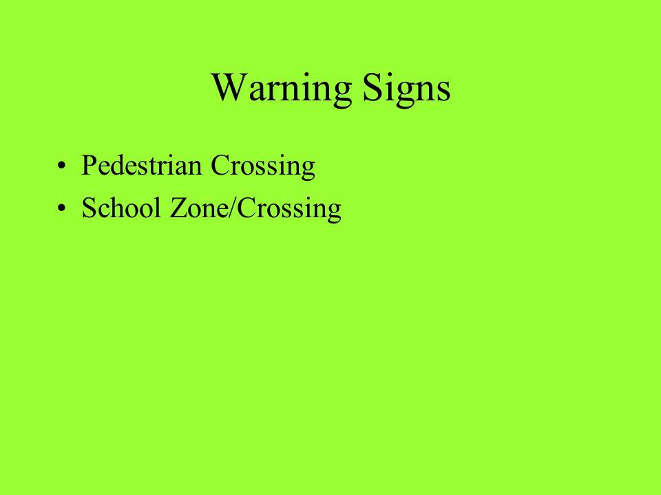 Warning Signs Pedestrian Crossing School Zone/Crossing