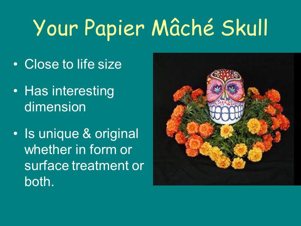 Your Papier Mâché Skull
