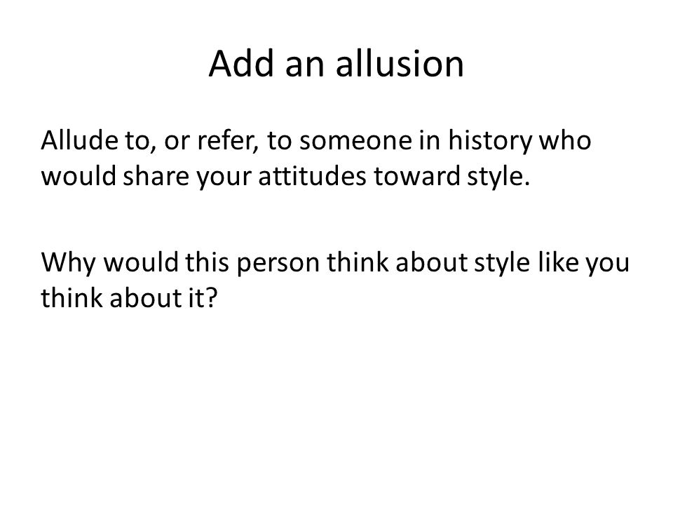 Add an allusion