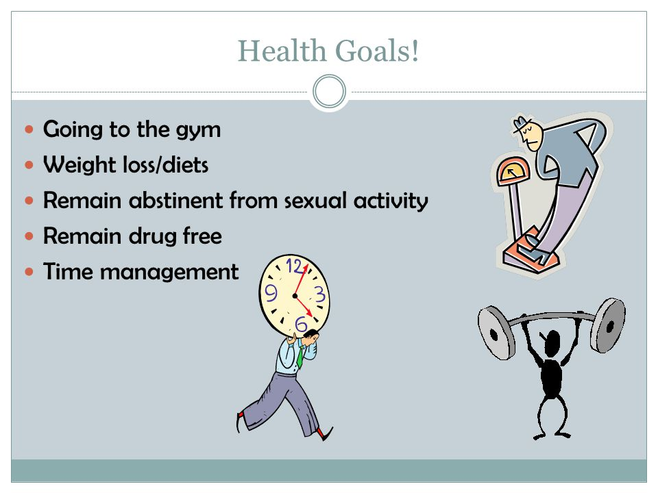 Health Goals! Going to the gym Weight loss/diets