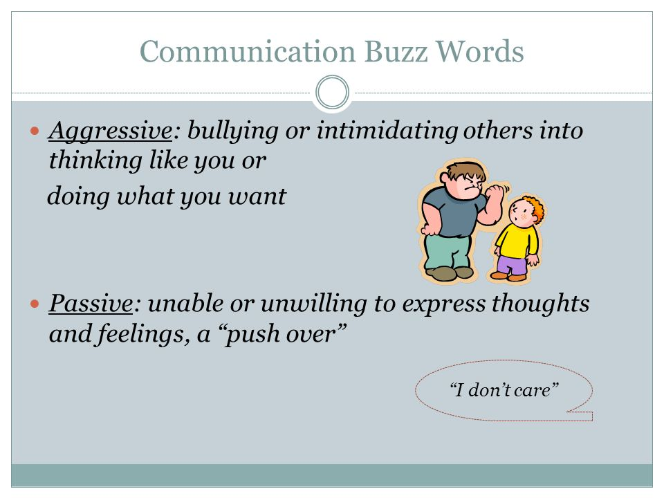 Communication Buzz Words