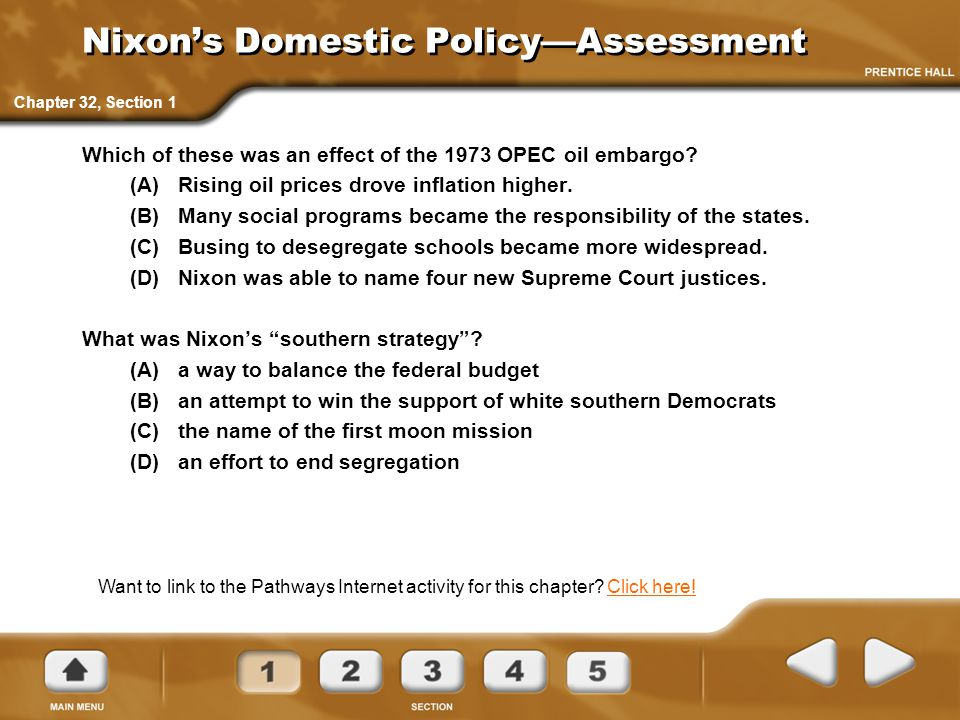 Nixon's Domestic Policy—Assessment