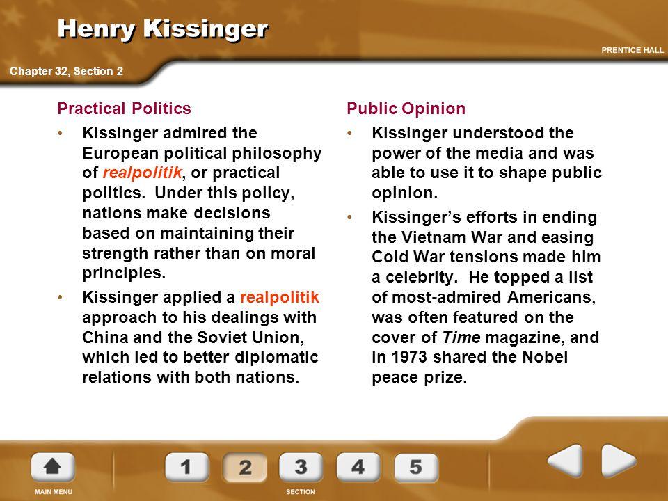 Henry Kissinger Practical Politics