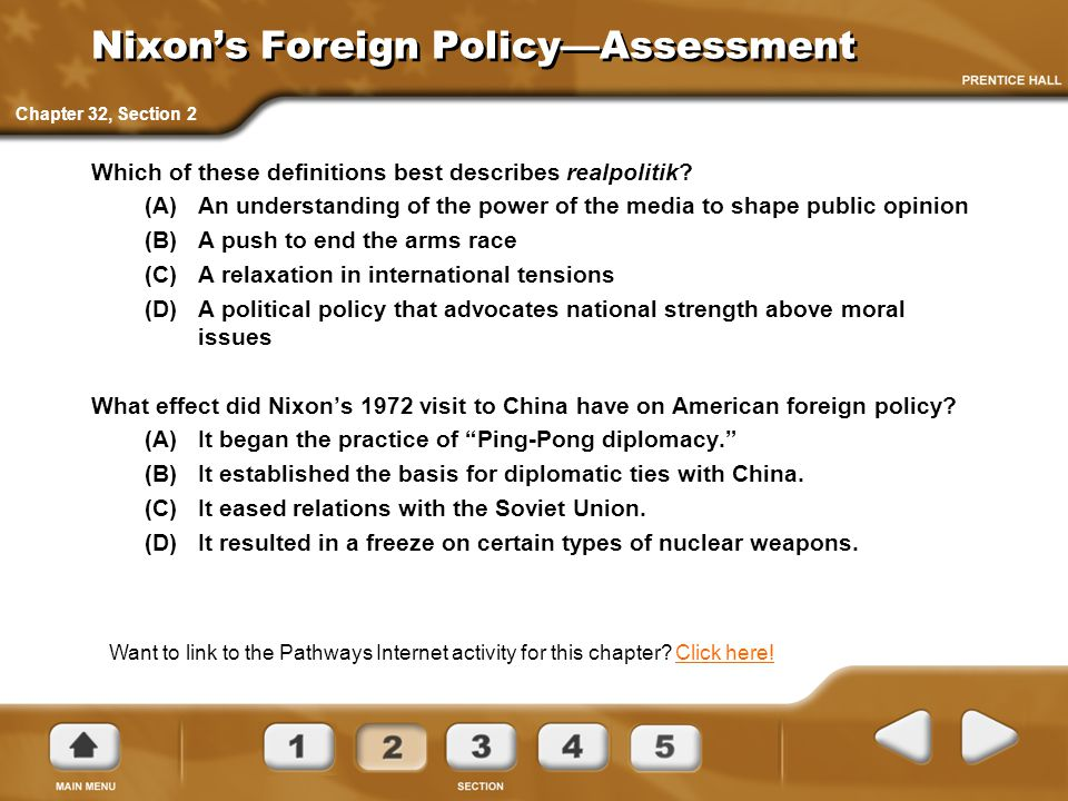 Nixon's Foreign Policy—Assessment