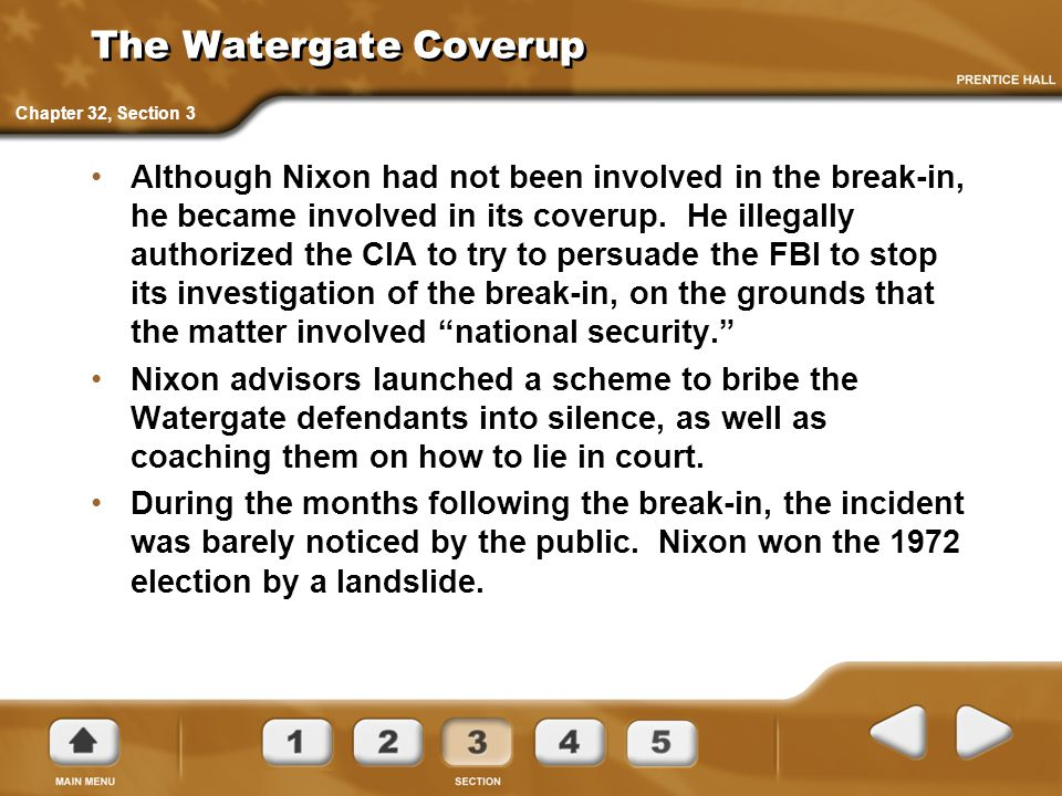 The Watergate Coverup Chapter 32, Section 3.