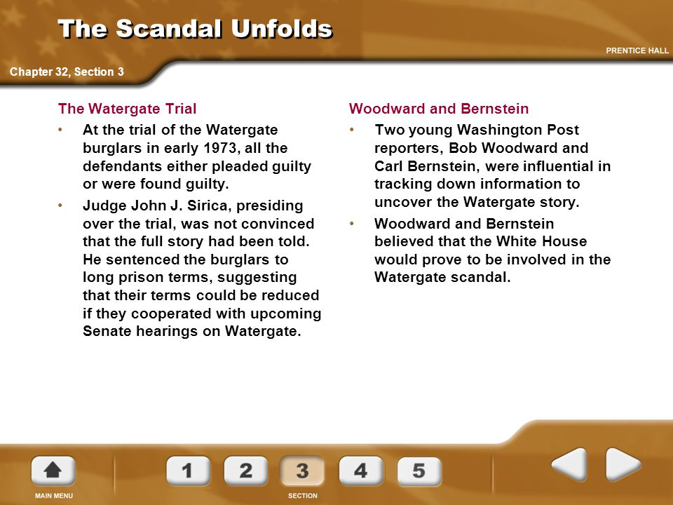 The Scandal Unfolds The Watergate Trial
