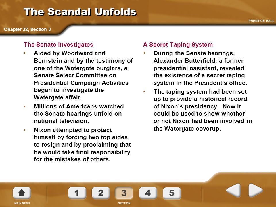 The Scandal Unfolds The Senate Investigates