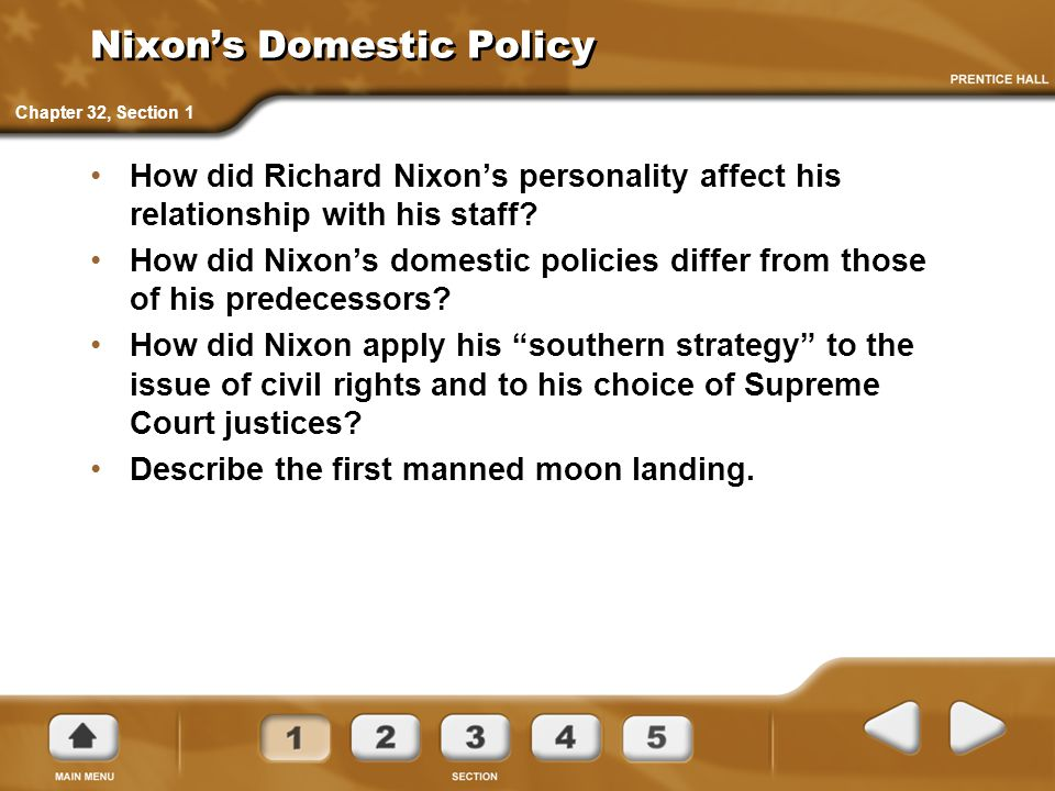 Nixon's Domestic Policy
