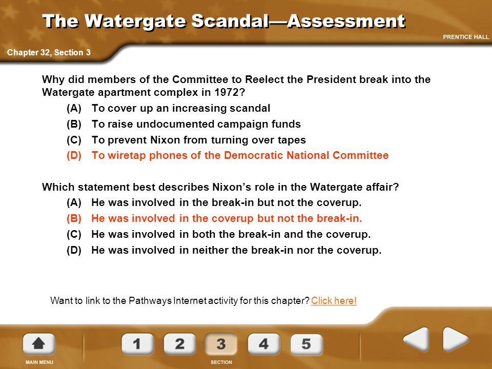 The Watergate Scandal—Assessment