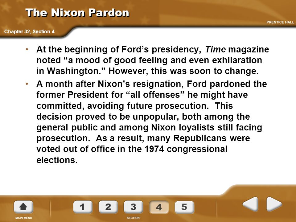 The Nixon Pardon Chapter 32, Section 4.