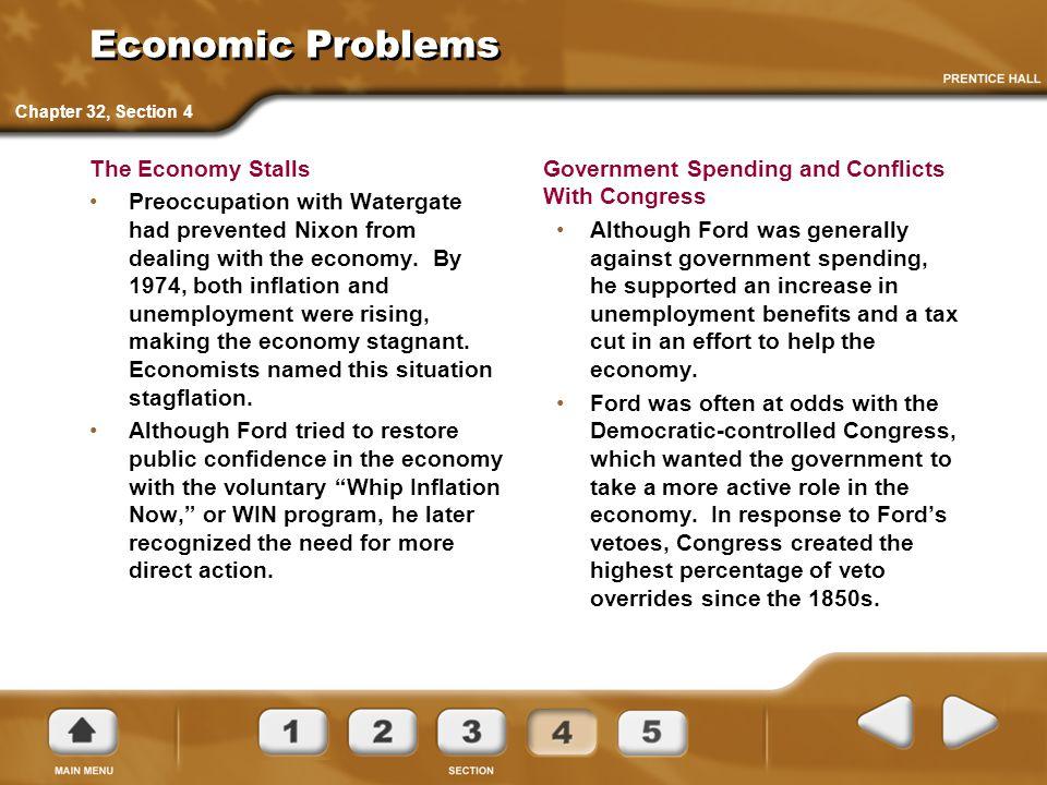Economic Problems The Economy Stalls