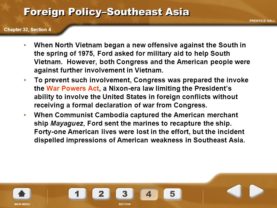 Foreign Policy–Southeast Asia