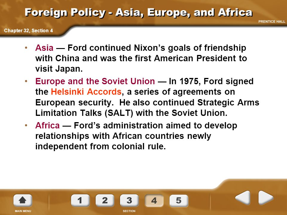 Foreign Policy - Asia, Europe, and Africa