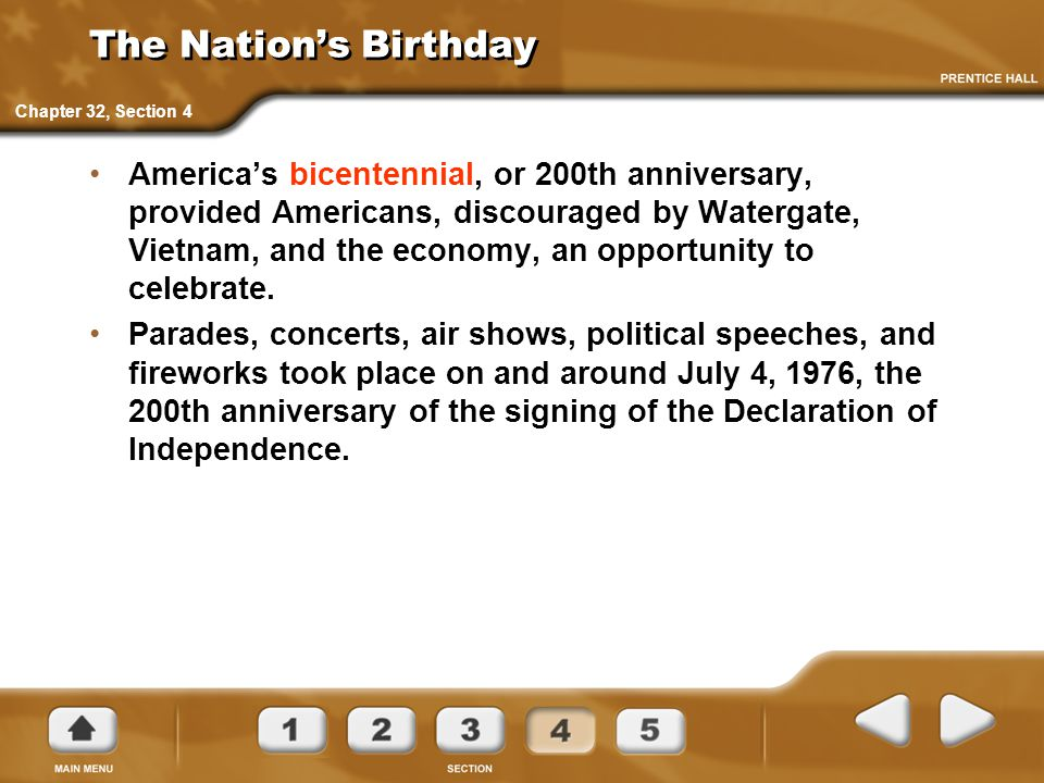 The Nation's Birthday Chapter 32, Section 4.