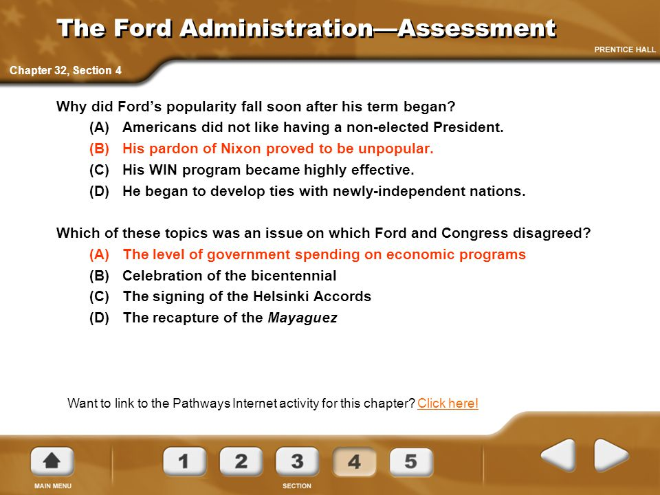 The Ford Administration—Assessment