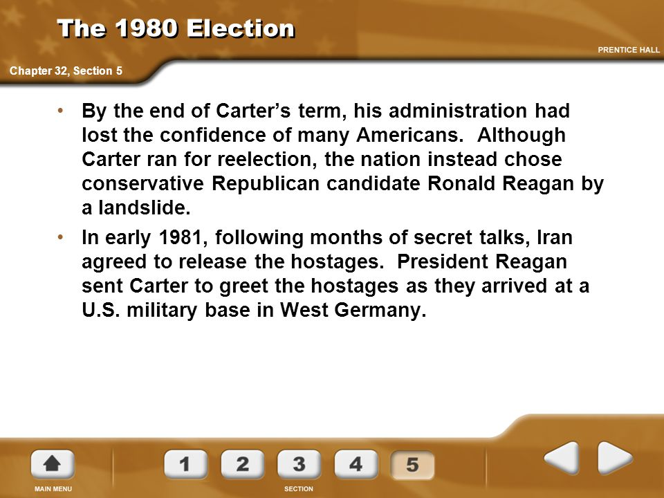 The 1980 Election Chapter 32, Section 5.