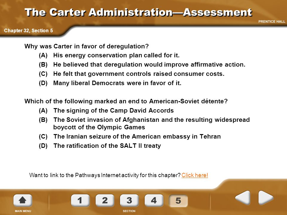 The Carter Administration—Assessment