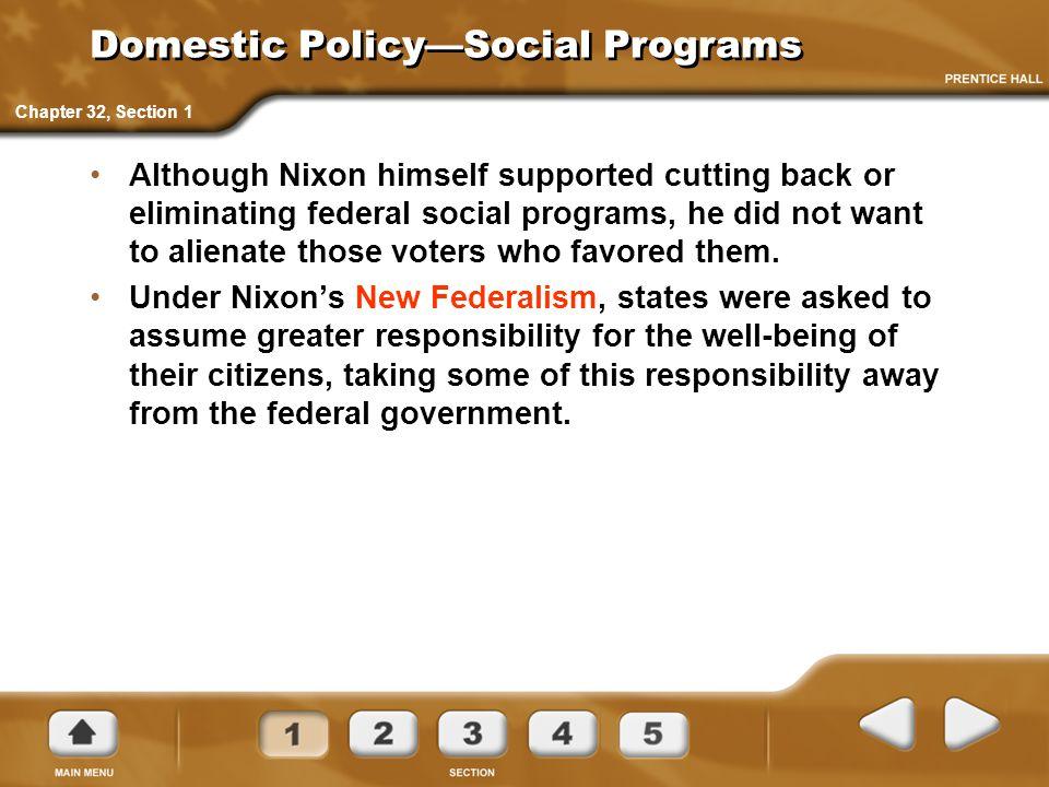 Domestic Policy—Social Programs
