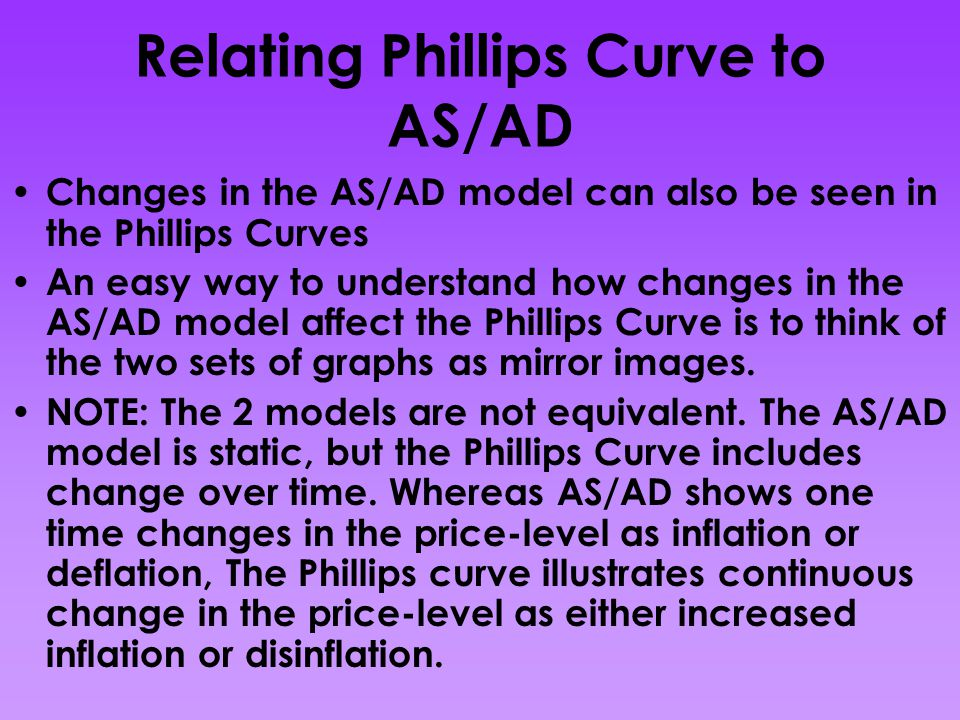 Relating Phillips Curve to AS/AD