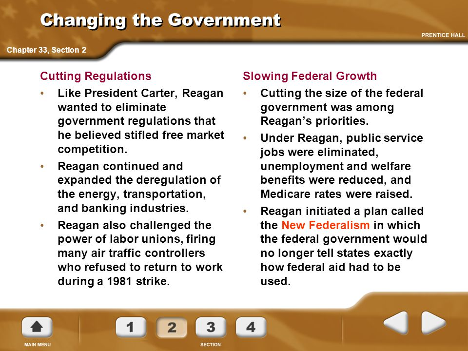 Changing the Government