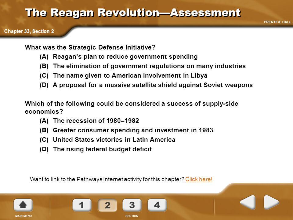 The Reagan Revolution—Assessment