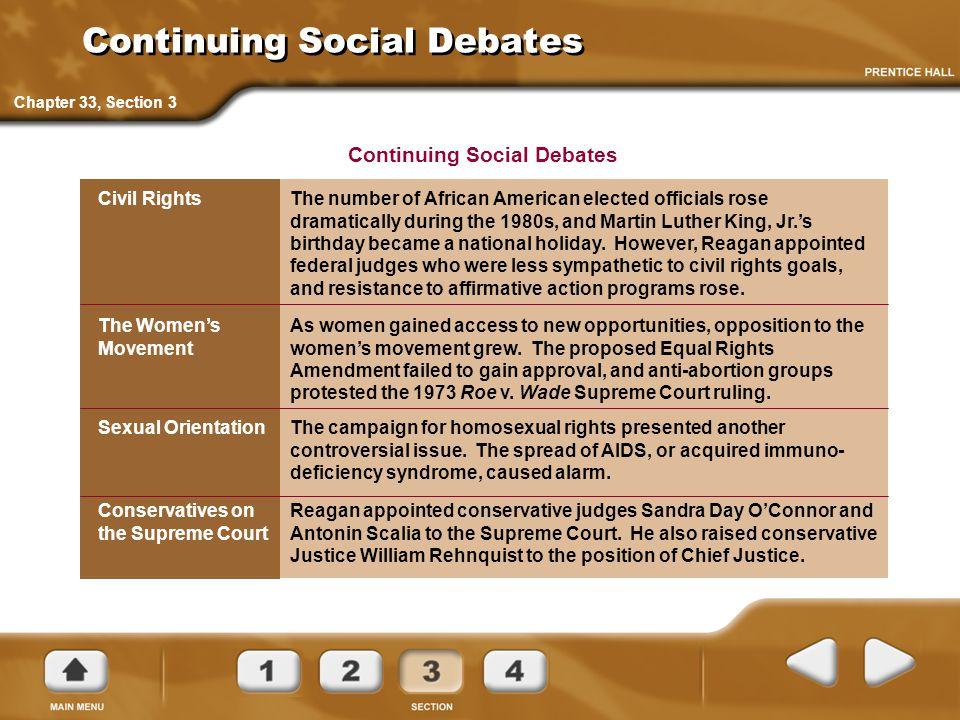 Continuing Social Debates