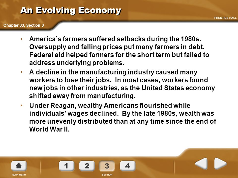 An Evolving Economy Chapter 33, Section 3.