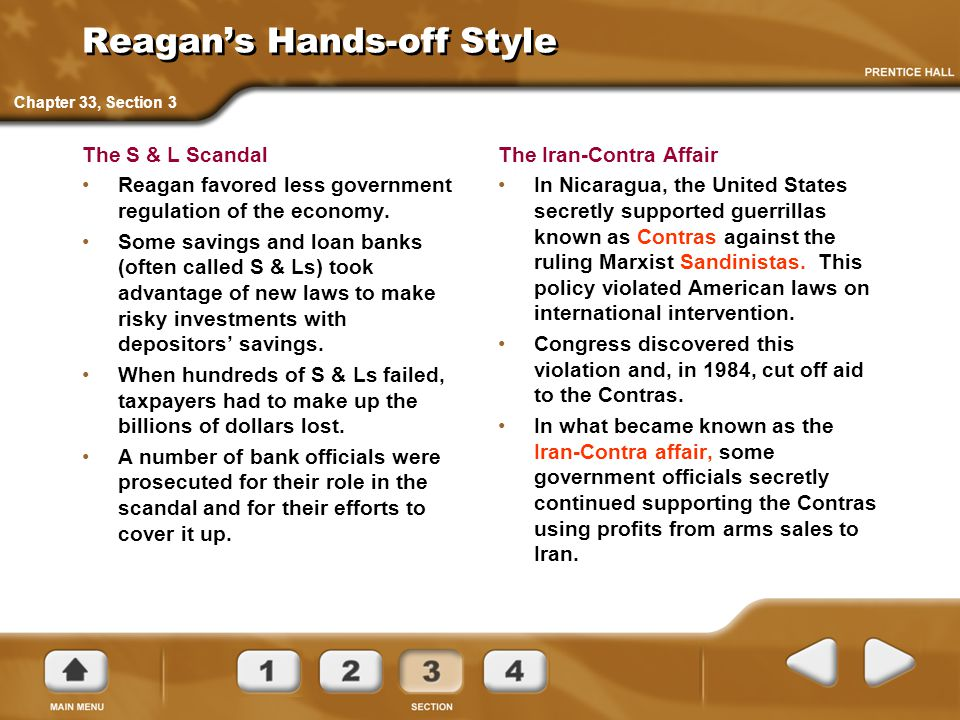 Reagan's Hands-off Style