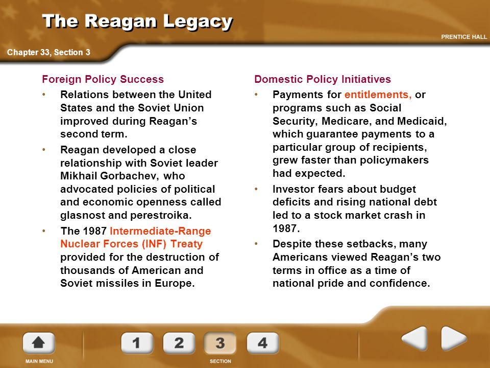 The Reagan Legacy Foreign Policy Success
