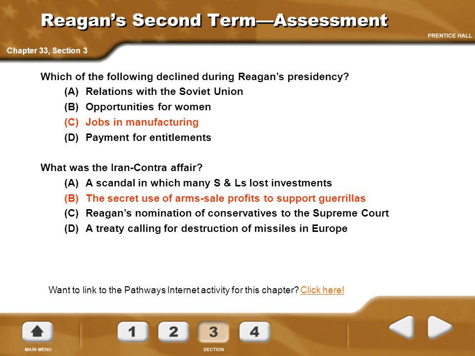 Reagan's Second Term—Assessment