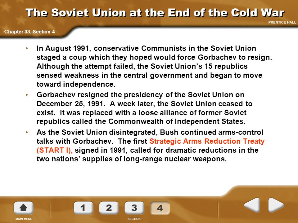 The Soviet Union at the End of the Cold War