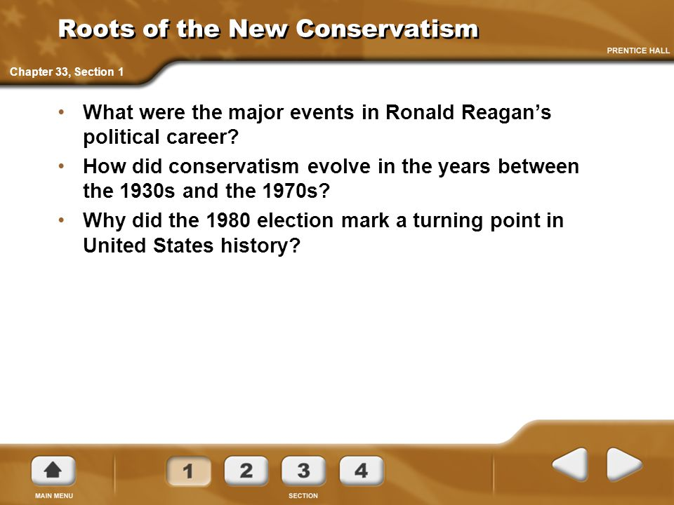 Roots of the New Conservatism