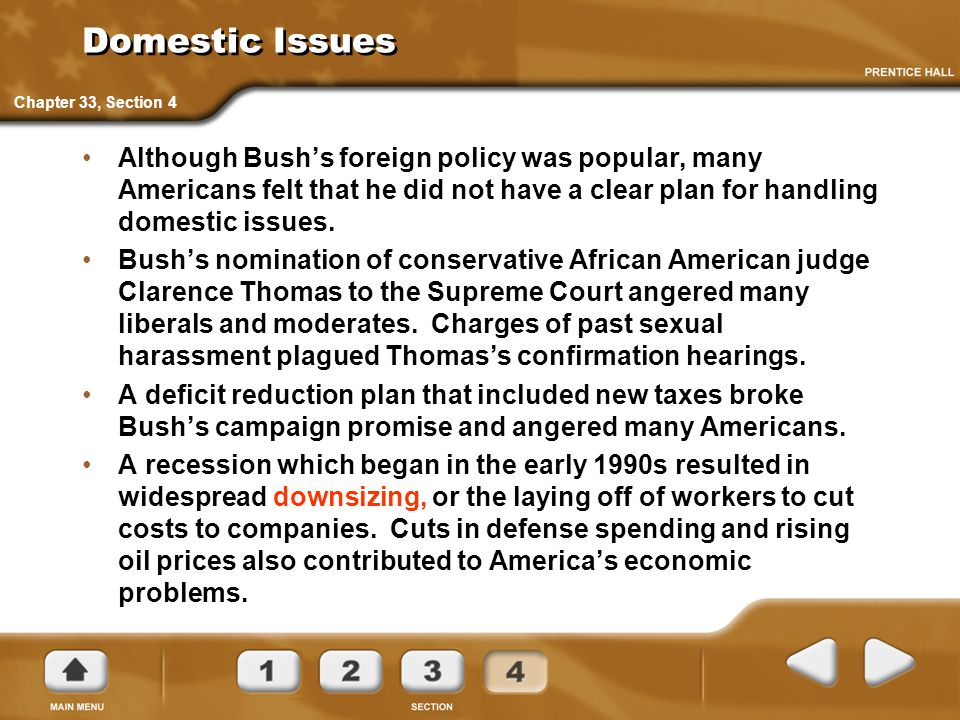 Domestic Issues Chapter 33, Section 4.