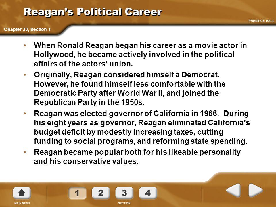 Reagan's Political Career