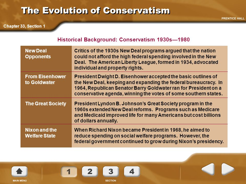 The Evolution of Conservatism