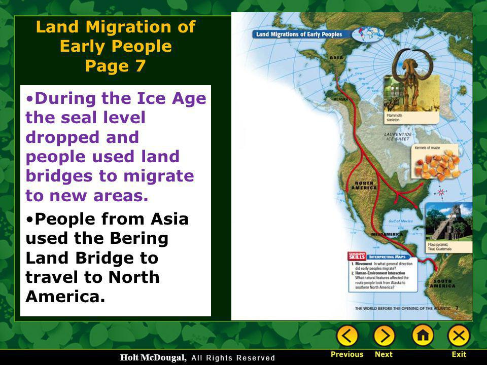 Land Migration of Early People Page 7