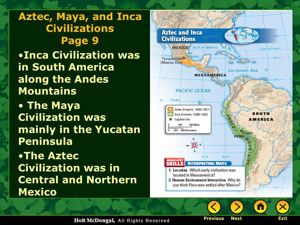 Aztec, Maya, and Inca Civilizations Page 9