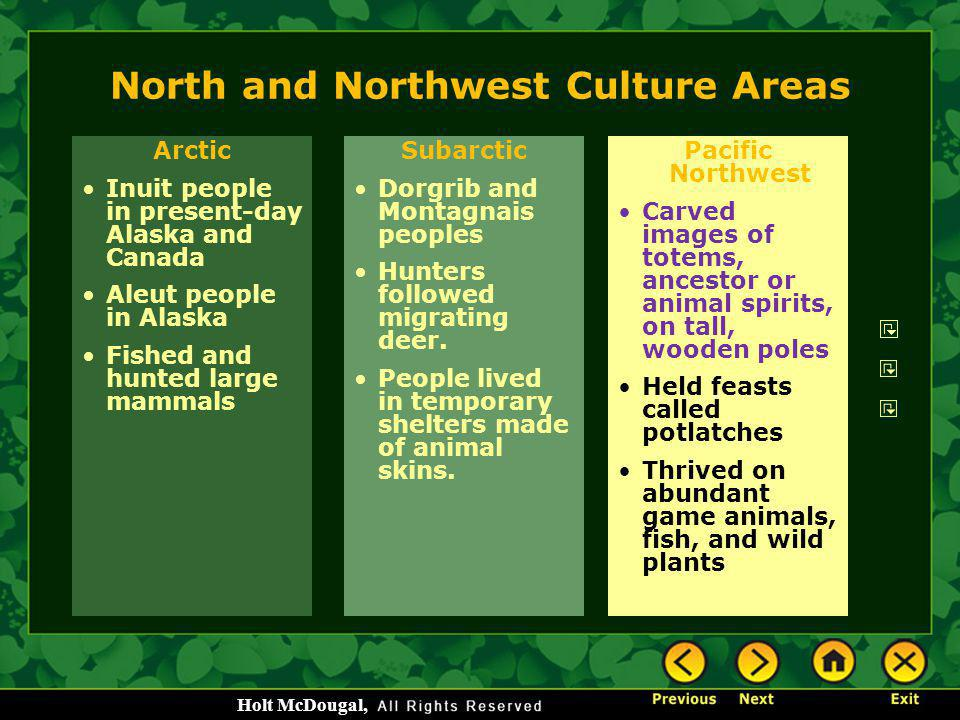 North and Northwest Culture Areas