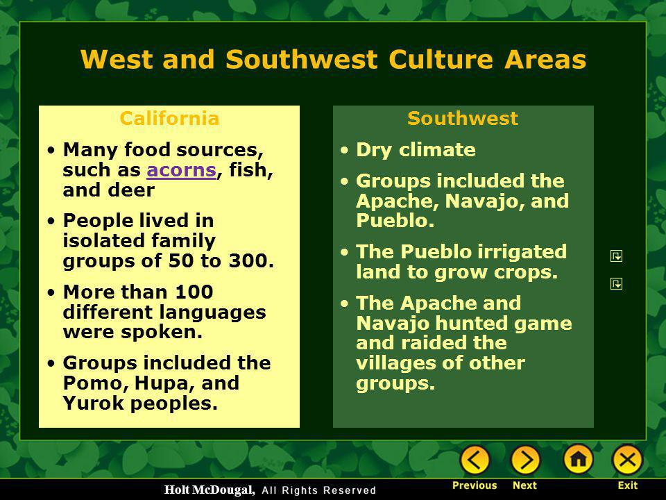 West and Southwest Culture Areas