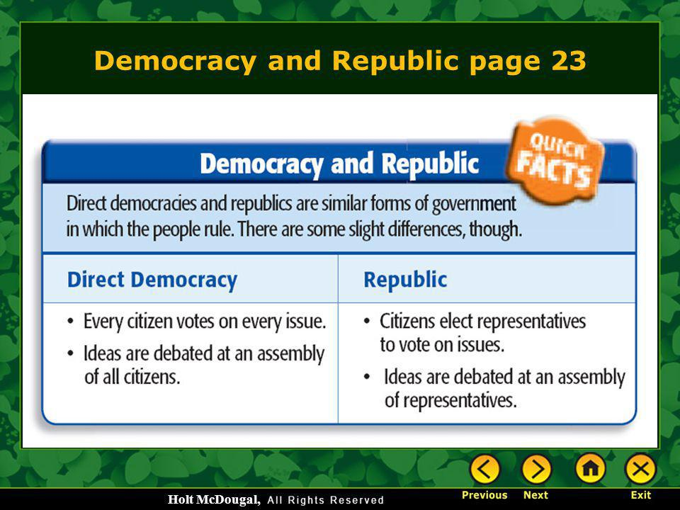 Democracy and Republic page 23