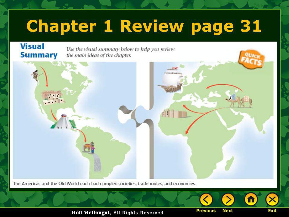 Chapter 1 Review page 31