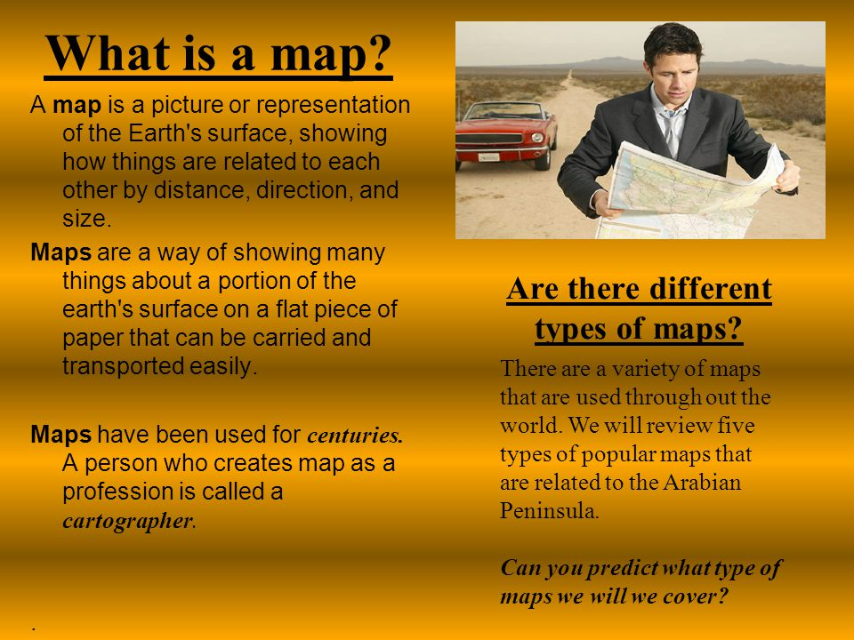 What is a map Are there different types of maps