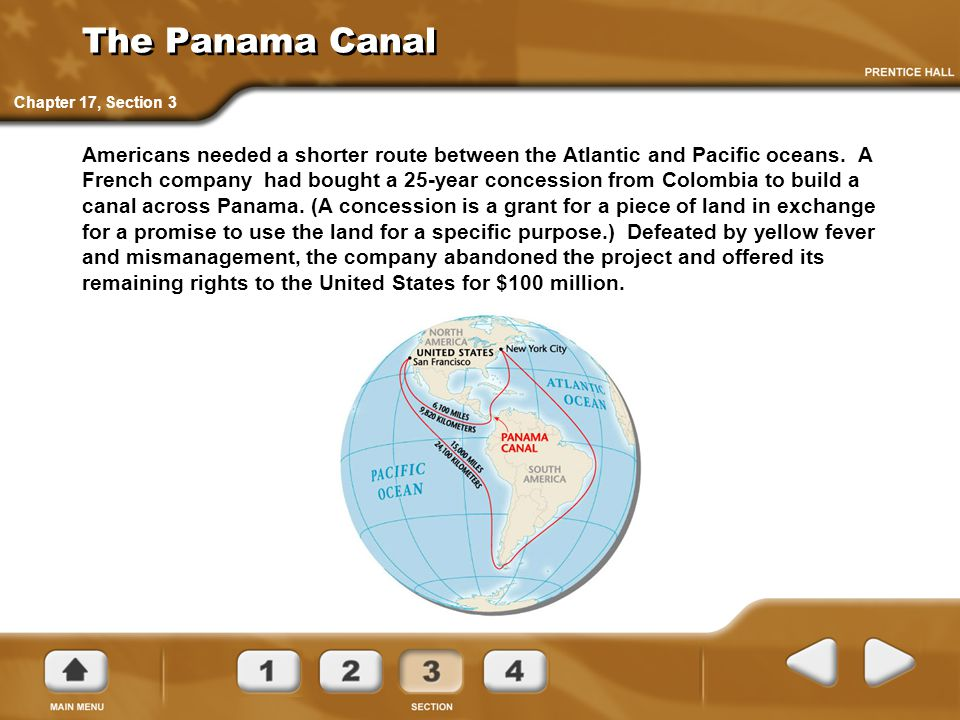 The Panama Canal Chapter 17, Section 3.